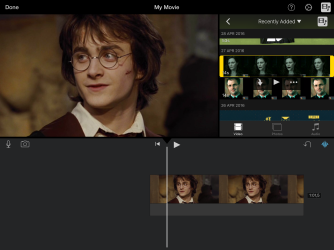 Select the video clip you wish to overlay and select the three dots